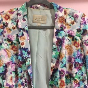 Hinge turquoise floral blazer